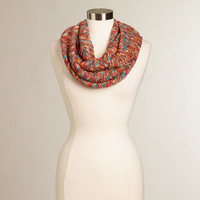 Multicolored Marled Infinity Scarf
