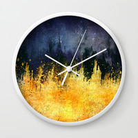 My burning desire Wall Clock by HappyMelvin