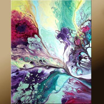 Abstract Modern Art Print 11x14 Contemporary Abstract Art by Destiny Womack - dWo - In Heaven