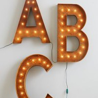 Monogram Marquee Light by Anthropologie