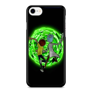 Rick And Morty Portal 2 iPhone 8 Case