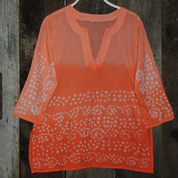 Bandhani Tunic Orange