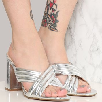 DISCO QUEEN HEEL - SILVER