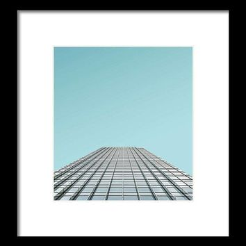 Urban Architecture   Canary Wharf, London, United Kingdom - Framed Print