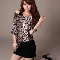 Wholesale Two Pieces Coffee Leopard Dresses : Wholesaleclothing4u.com
