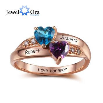 Birthstone Rings Personalized Jewelry Engrave