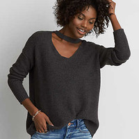 AEO Choker Neck Sweater , Charcoal