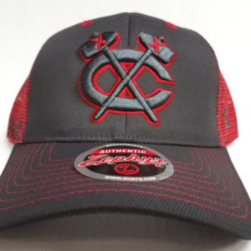 Men's Chicago Blackhawks Zephyr Jolt Trucker Adjustable Snapback Hat