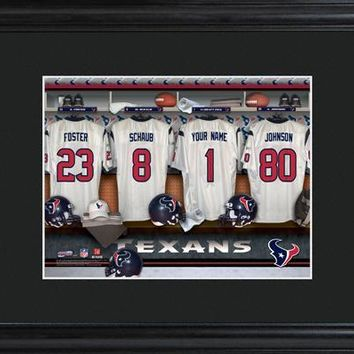 Customizable NFL Locker Print with Matted Frame - Houston Texans