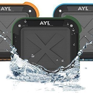 Best Portable Outdoor and Shower Bluetooth 4.0 Speaker by AYL SoundFit, Waterproof, Wireless with 10 Hour Rechargeable Battery Life, Powerful 5W Audio Driver, Pairs with All Bluetooth Devices