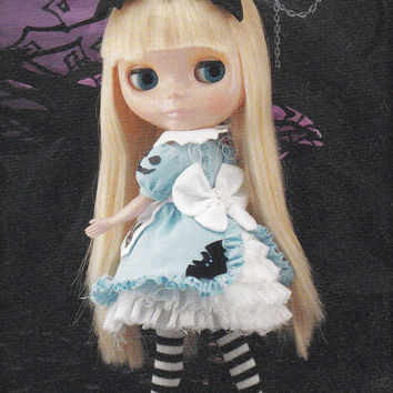 Kenner Blythe doll Alice in Wonderland fairytale theme Dress & Layer Underskirt set pdf E PATTERN in Japanese and Titles in English