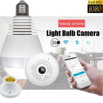 Safurance 360 degree  Wireless Panoramic 1080P IR Camera E27 Light Bulb Wifi Fish Eye CCTV Home Security Surveillance