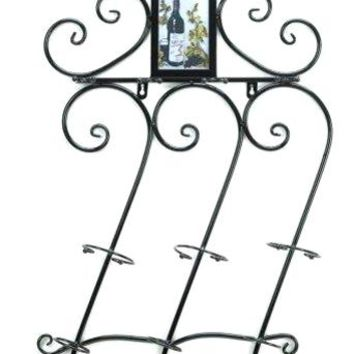 Iron Wine Wall Scroll work Rack
