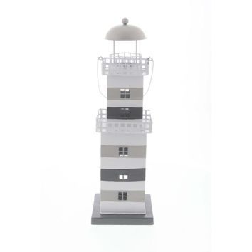Stirring Metal Lighthouse Lantern, Multicolor - 98871 by Benzara