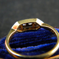 Vintage Art Deco Engagement Ring 18k 18ct Gold