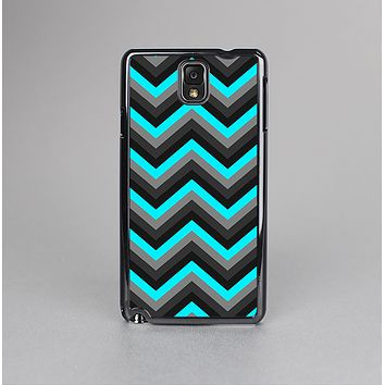 The Turquoise-Black-Gray Chevron Pattern Skin-Sert Case for the Samsung Galaxy Note 3