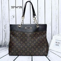 Perfect LV Women Shopping Leather Tote Crossbody Satchel Shoulder Bag