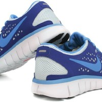 Nike Women's Free Run+ Running Shoes-Glacier Blue/Vibrant Blue-7