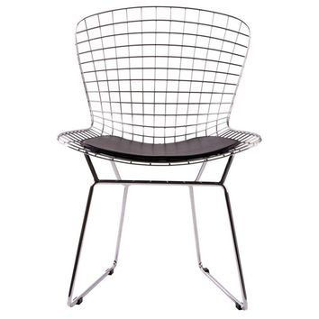 Modern  Chrome Reproduction Harry Bertoia Wire Lounge Chair