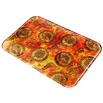 Flaming Hot Charcoal Grilled Steak Pattern All Over Glass Cutting Board