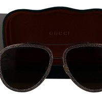 Gucci GG0062S Sunglasses Gold w/Brown Lens 004 GG 0062S