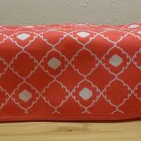 Coral and White Quadrafoil Print Cover fits the CRICUT EXPLORE / Air