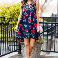 Homegrown Happiness Dress, Navy