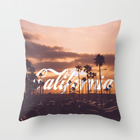 California Throw Pillow by Thecrazythewzrd