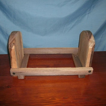 Rustic Walnut Slab Folding Book Ends, Item 48