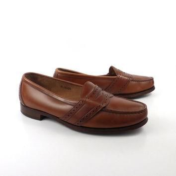 Polo Ralph Lauren Loafers Vintage 1980s Penny Brown leather Shoes Dress Men's size 10