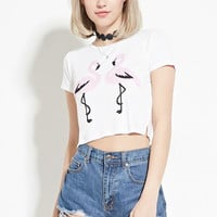 Flamingo Graphic Crop Top | Forever 21 - 2000153838