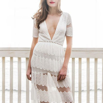 Lace Sands Maxi Dress