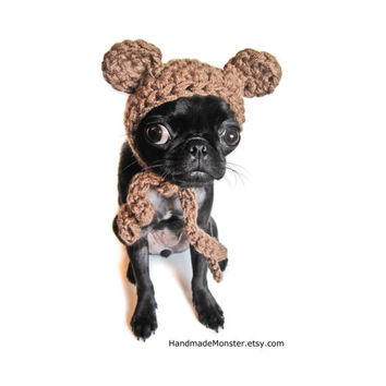 pet costume CROCHET DOG HATS bear hat ewok star wars inspired pet costume custom cat photo props photography props