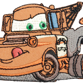 disney cars iron-on appliques-tow mater