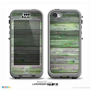 The Mossy Green Wooden Planks Skin for the iPhone 5c nüüd LifeProof Case