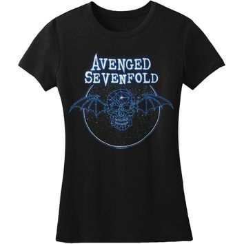 Avenged Sevenfold  AVS Constellation Jr Tissue T Junior Top Black