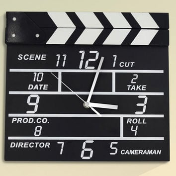 Directors Clapperboard Clock Home Gift