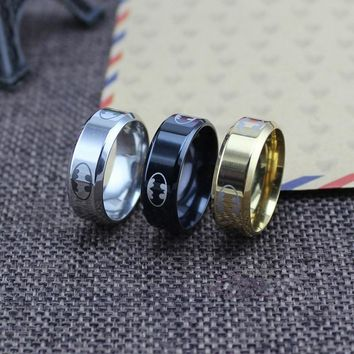 (1 pieces/lot) 100% Stainless Steel Ring Batman Rings For men & women Super Hero Cool Gift