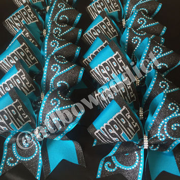 Competition Cheer Bow with Rhinestones