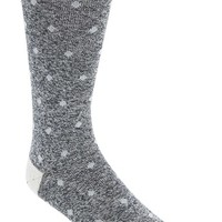 Men's Mr. Gray Textile 'Denim Chip' Dot Socks