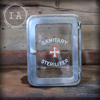 Vintage Industrial Glass Sanitary Sterlilizer Storage Cabinet Medical Apothecary