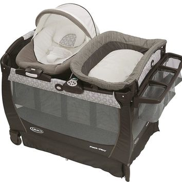 Graco Baby Pack 'n Play Playard Snuggle Suite LX Bassinet Abbington