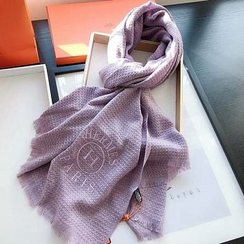 Perfect Hermès Women Wool Scarf Shawl Scar