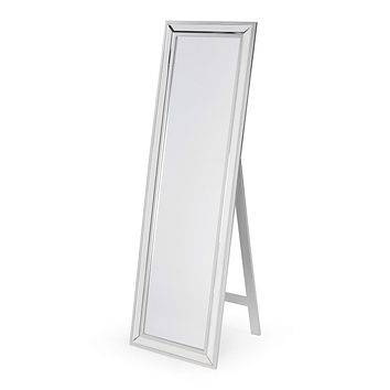 Modern Classic Art Deco Beveled Floor Mirror with Easel Style Stand