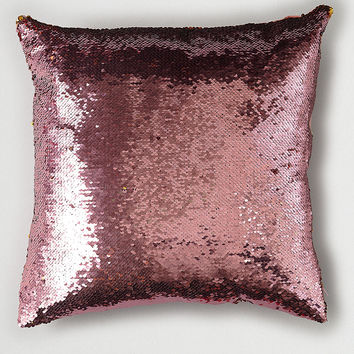 Ankit Sequin Throw Pillow, Red