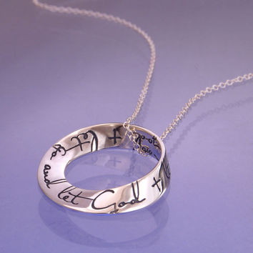 Let Go And Let God Small Sterling Silver