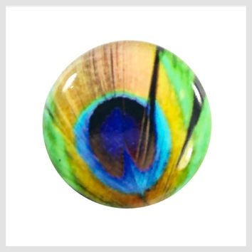 Painted Enamel Colorful Pattern 20mm