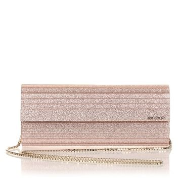 Sweetie rose gold glitter clutch Jimmy Choo - Designer Shoes at ShopSavannahs.com
