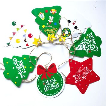 27 Pcs Home Christmas Tree Hang Tag Paper Room Ornament