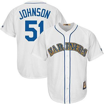 Randy Johnson Seattle Mariners #51 MLB Men's Big and Tall Cooperstown Jersey (2XL)